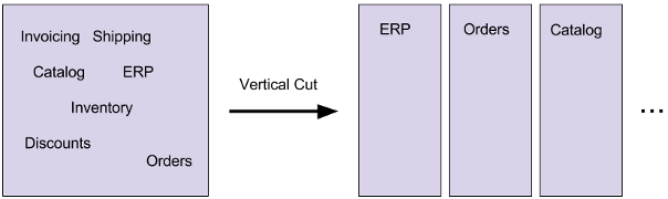 Vertical cut to functional aspects